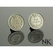 Ned Kelly® NK® Sixpence Sterling Silver Coin Gents Cufflinks