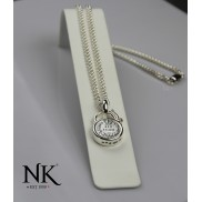 Ned Kelly® NK® Sixpence sterling silver Necklace