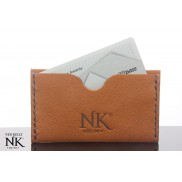 Ned Kelly Brown Kangaroo Leather Card Wallet