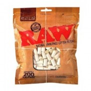 Raw  Regular Cotton Filters 200ct