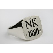 Ned Kelly NK Heavy Sterling Silver Gents Ring