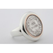 Ned Kelly® NK® Sixpence Sterling Silver Coin Ring
