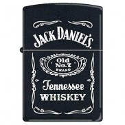 Zippo Jack Daniel's Tennessee Whiskey Black Matte Lighter